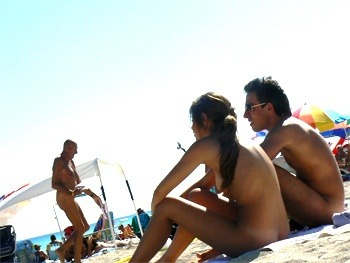 Clothing optional nude beach