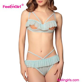 Girls in see thru bra and panties