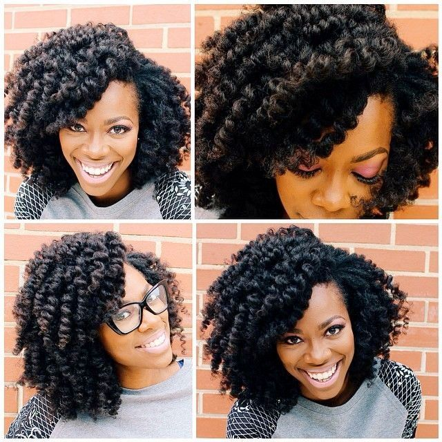 Crochet braids with natural hair