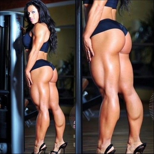 Hot naked muscle women