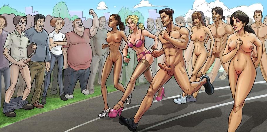 Public sex porn cartoon