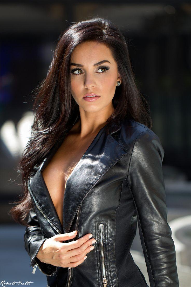 Leather girls having sex