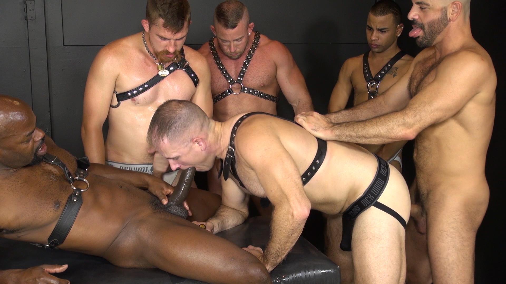 Amateur gay interracial orgy