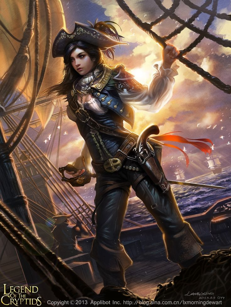 Fantasy pirate woman