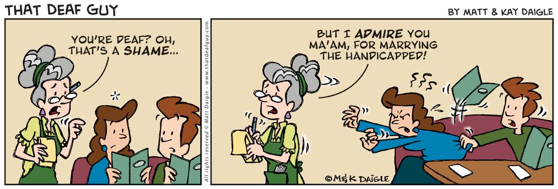 strips Deaf girl