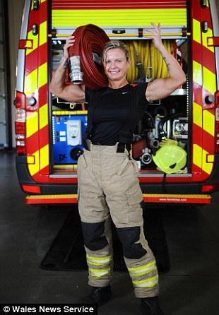 Nude women female firefighter
