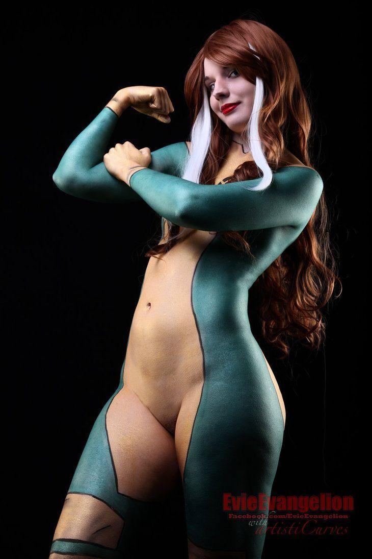 Nude girls body paint fuck