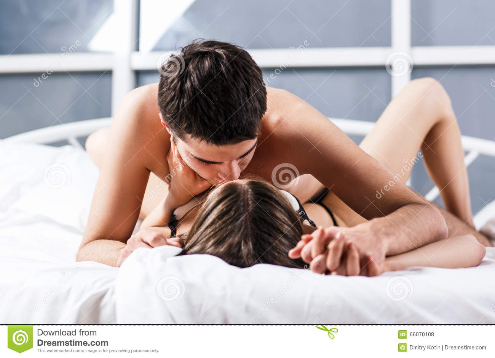Sex romantic couple kissing