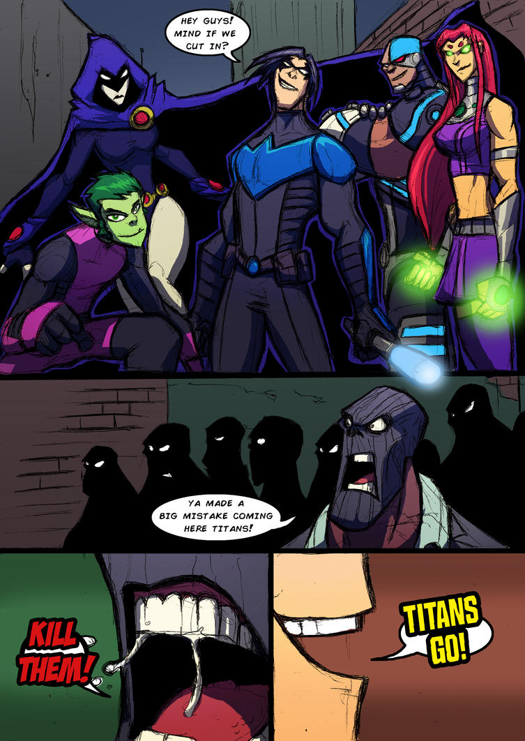 Teen titans cartoon comics