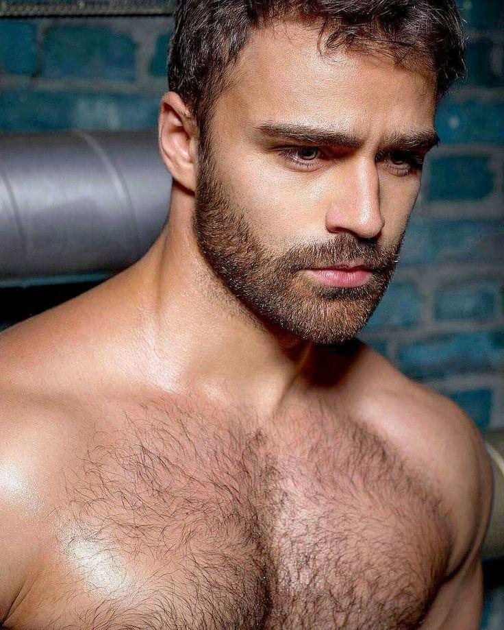 Hunky hairy gay man