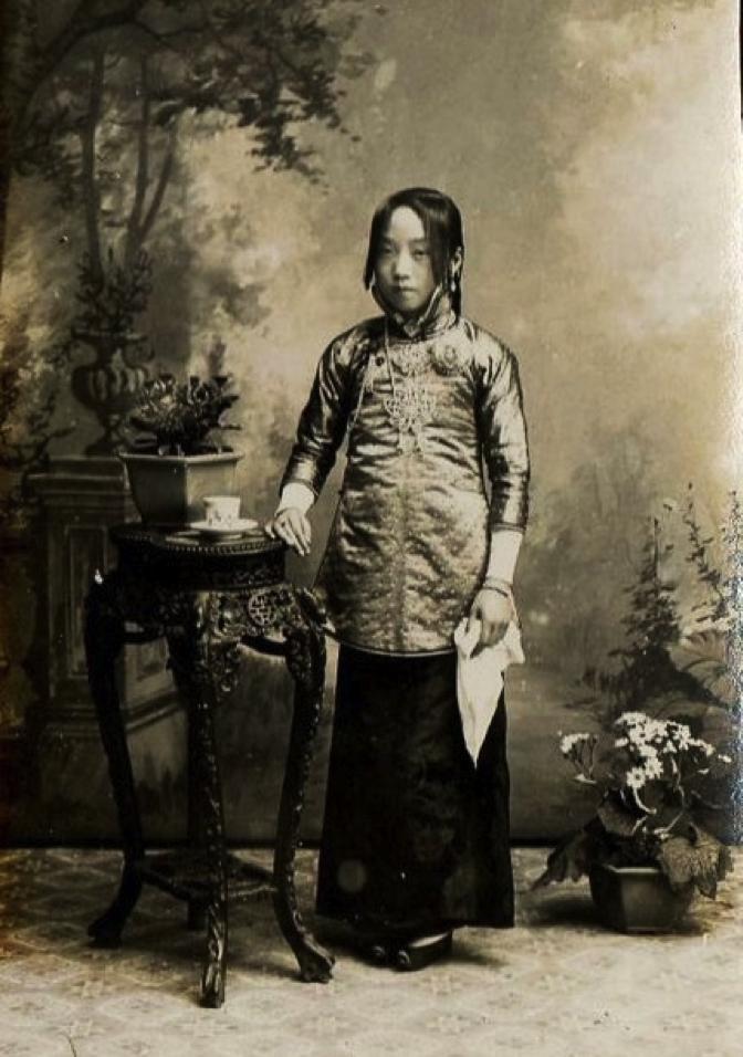 Chinese cangue woman yoke