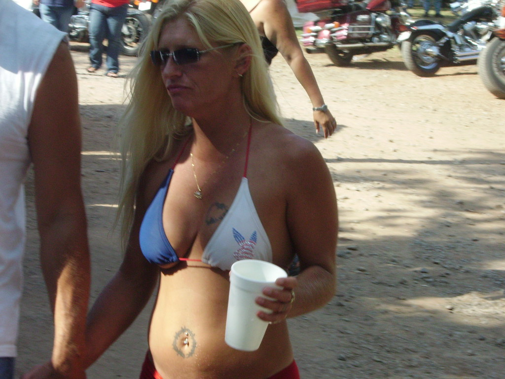 biker girls Oklahoma rally bikini