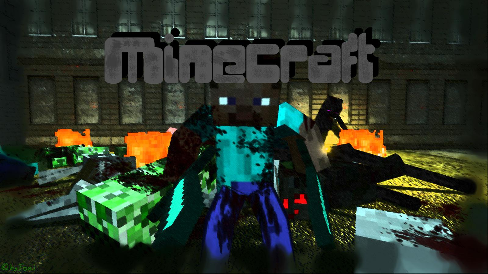 Awesome minecraft desktop background