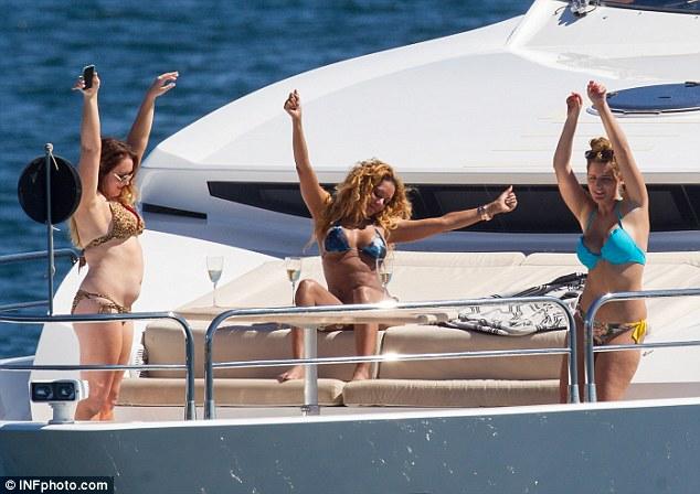 Nude girls on luxury yachts