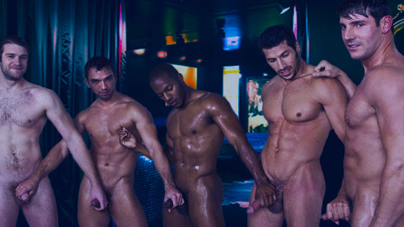 Gay male sex party