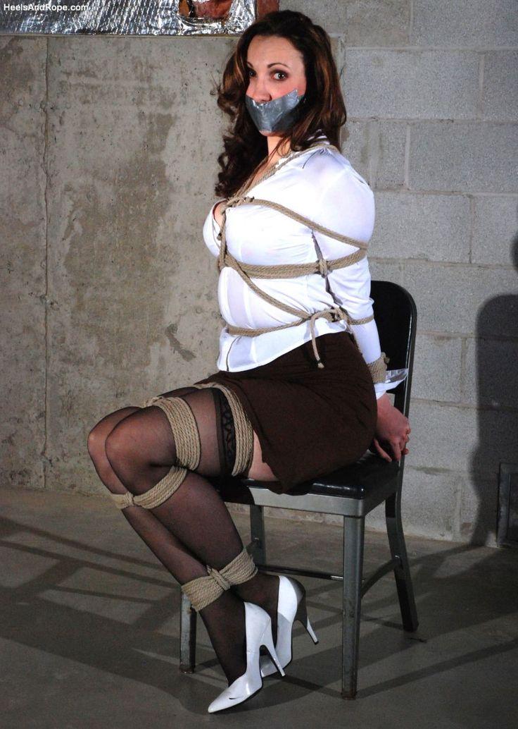 Heels and rope bondage