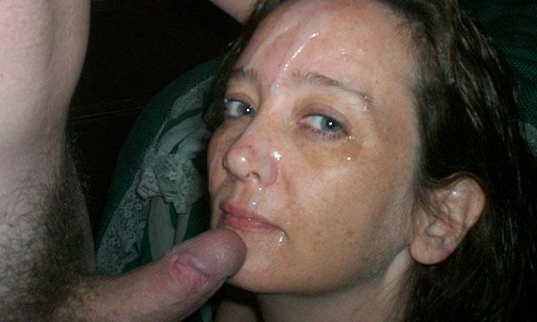 Homemade wife facial cumshot