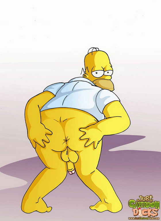 of gay homer simpson videos naked cartoon