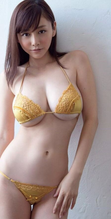 Busty asian bikini nude
