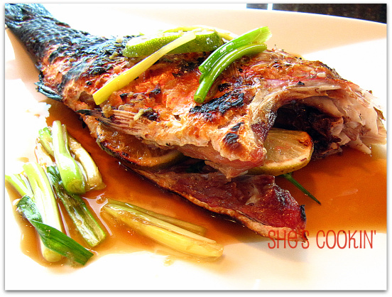 Grilled whole red snapper recipe