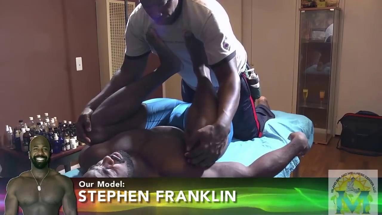 Black gay man massage