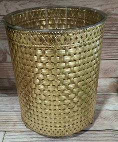 Antique gold wastebasket