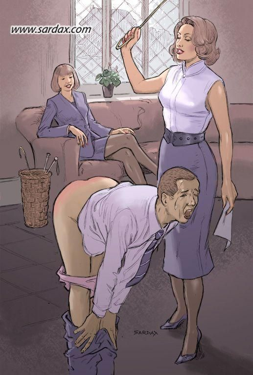 boss Spanking captions wife