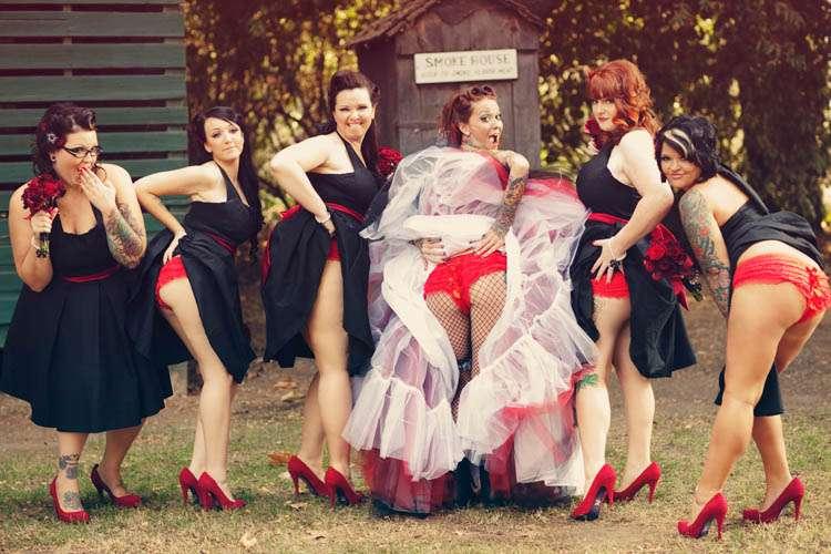 and Naughty bridesmaids brides