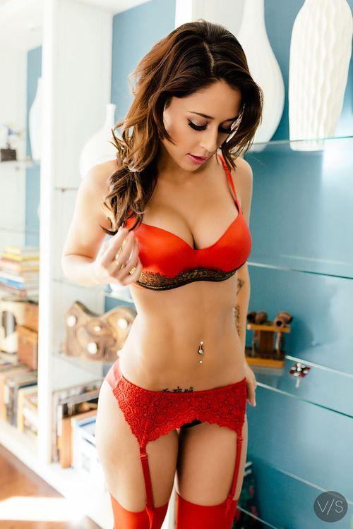 brunette porn Nude lingerie