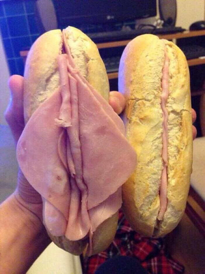 Sandwich looks like pussy