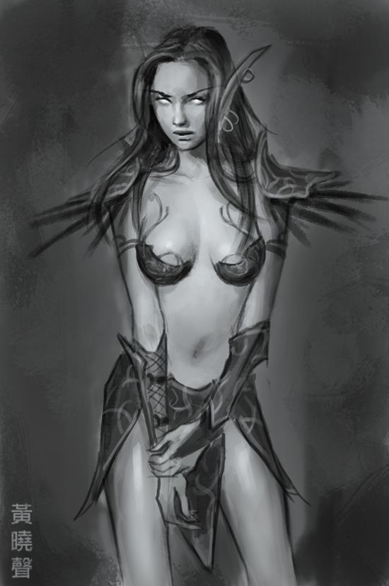 Fantasy elf woman nude