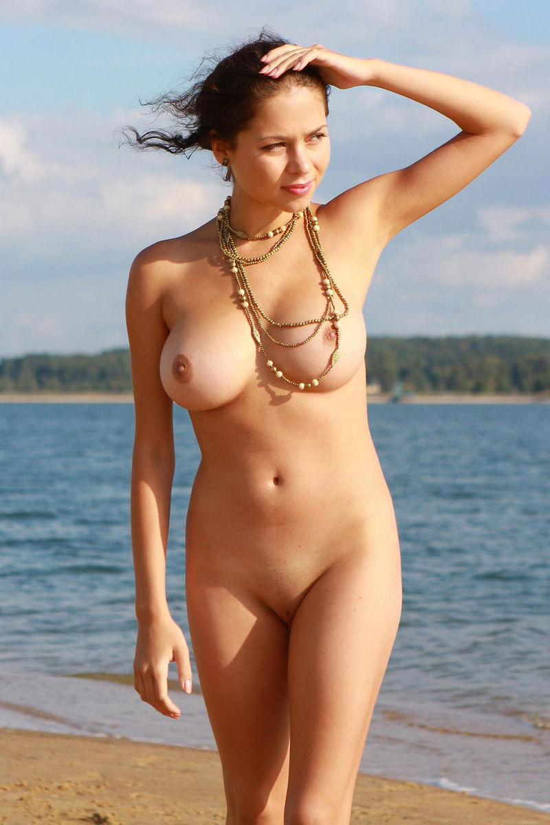 Hot sexy naked girls at the beach