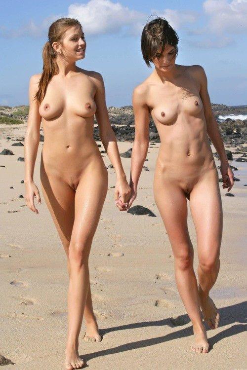 Naked girls on nude beach lesbian