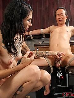 Femdom male rope bondage