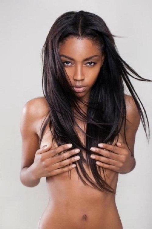 Skinny black girl nude