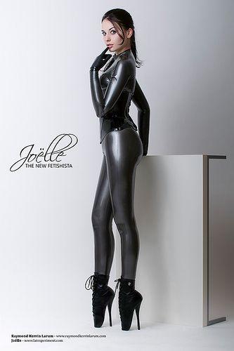 Latex ballet boots