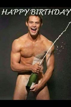 Naked gay guy birthday