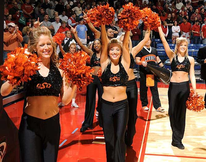 Oregon state basketball cheerleaders
