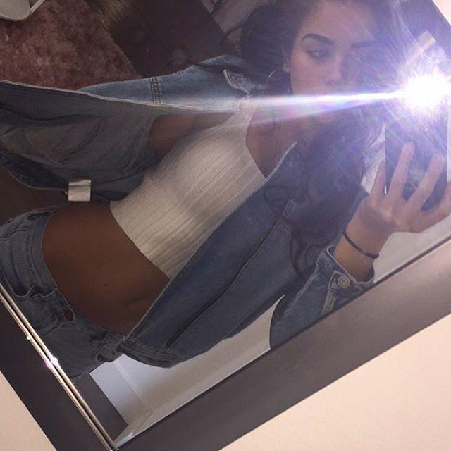 Brunette mirror selfie