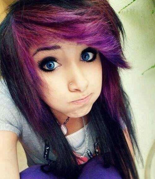 Cute emo girl hairstyles for medium hair
