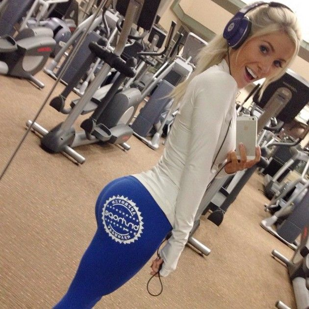 Girls in yoga pants at the gym