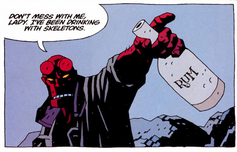 Comic hellboy pancakes