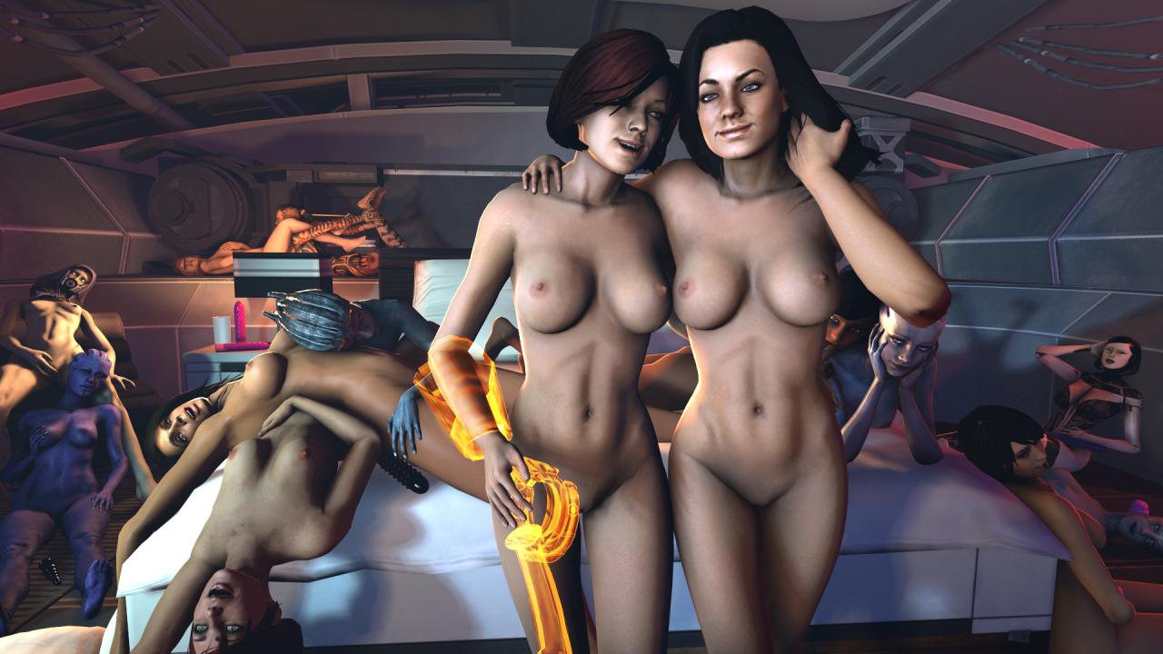 Asian threesome lesbian nuru