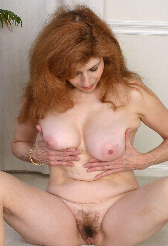 Mature redhead big tits hairy pussy