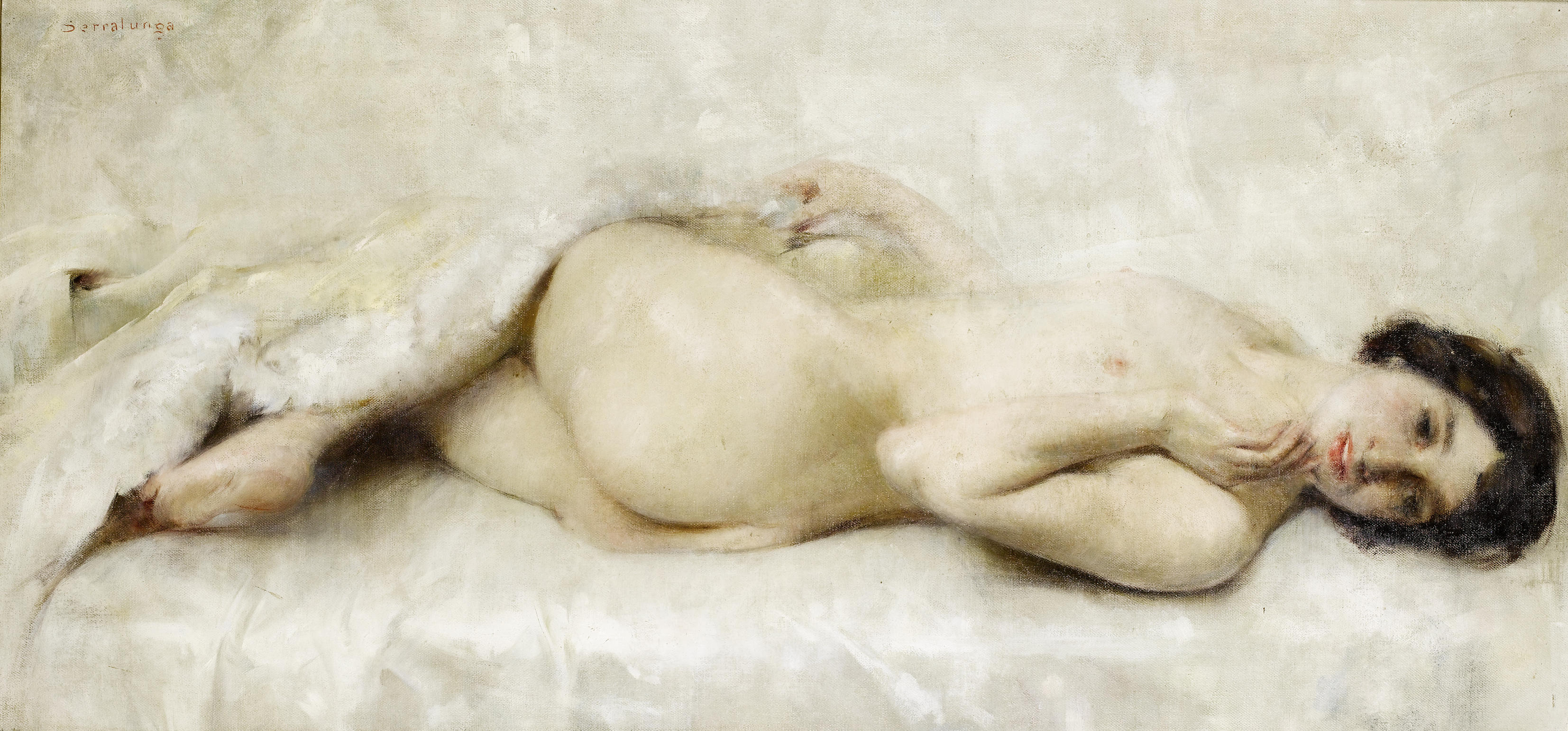 Reclining nude art photography