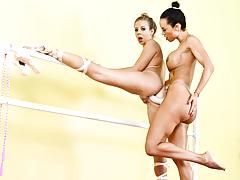 Lesbian ballerinas fucking