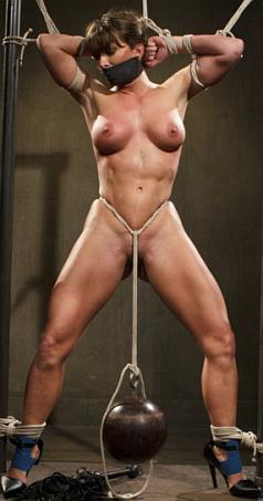 Female bodybuilder bondage