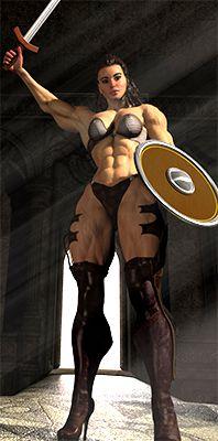 nude bodybuilder Amazon female