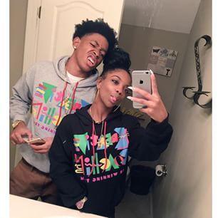 Young black teen gf