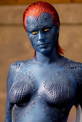 Rebecca romijn mystique body paint